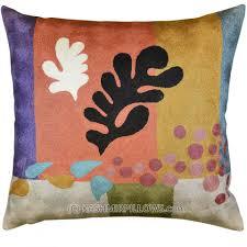 Modern Throw Pillows For Sofa Matisse Modern Throw Pillows Cut Outs Coral Flower Cushion Cover