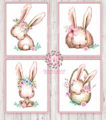boho bohemian bunny rabbit woodland printable wall art print