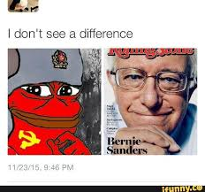 Side By Side Meme - rare communist pepe and bernie sanders side by side comparison