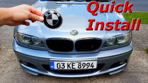 bmw and trunk emblem replacement
