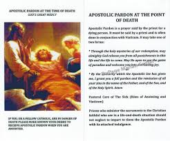 card for sick person apostolic pardon card catholic shoppe usa