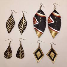 feather earring fancy leather feather earrings 5 steps with pictures