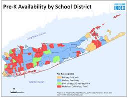 Long Island On Map Pre K Availability On Long Island Long Island Index