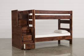 sedona twin twin bunk bed w stair chest living spaces