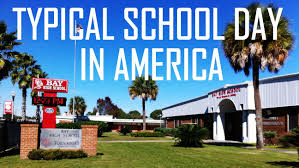 high school in united states in the usa a typical school day