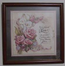 home interior figurines homco home interior picture roses joan cole signed 13 5