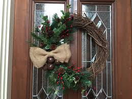 rustic christmas wreath simple holiday wreath burlap bow red