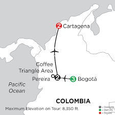 Colombia On World Map by Colombia Vacation Packages Monograms Travel