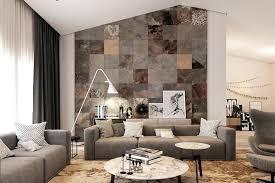 steinwand wohnzimmer fliesen wandgestaltung in steinoptik moderne deko idee bescheiden styropor