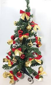 2 60 mini pine tree set decoration include balls and