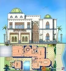 Moroccan Interior Design ARABIC VILLA Pencil On Trace - Arabic home design