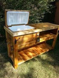 wooden ice chest patio bar woodworking pinterest wooden ice