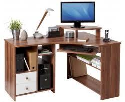 bureau ordinateur angle bureau d angle informatique angle droite tanga noyer