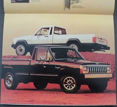1988 jeep comanche jeep pickup trucks comanche j10 j20 original dealer sales brochure