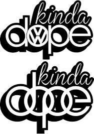 vw logos kinda dope u2013 vw audi u2013 decal logo u2013 stickit stickers u0026 decals
