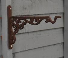cast iron garden wall light hanging bracket shelf planter lantern