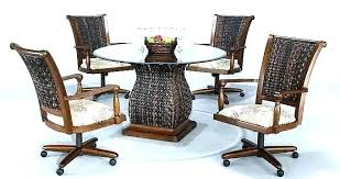kitchen dining chairs dining table and chairs with casters dining table and chairs with