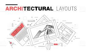 architectural layouts architectural layouts in trendy polygonal stock vector more