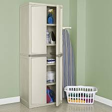 sterilite 4 shelf cabinet flat gray amazon com sterilite 01428501 4 shelf cabinet with putty handles