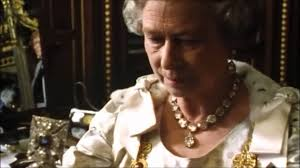 queen elizabeth ii wearing the imperial state crown youtube
