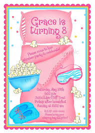 sleepover invitations sleepover slumber personalized