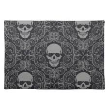 spooky halloween placemats zazzle