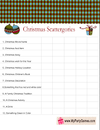 free printable christmas scattergories categories list 2 free