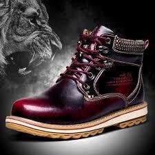 2016 winter new fashion men snow boots fur no fur genuine leather