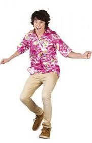 hawaiian shirt in pink fancy dress costume as022673