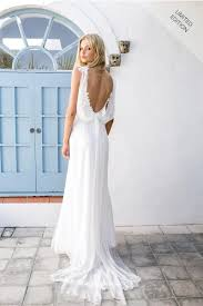 wedding dress sheer straps spaghetti straps sheath backless chiffon lace wedding dress