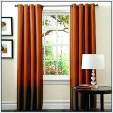 Burnt Orange Sheer Curtains Orange And Brown Curtains Bosli Club