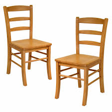 Oak Table With Windsor Back Chairs Amazon Com Winsome Wood Ladder Back Chair Light Oak Set Of 2
