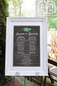 chalkboard wedding program wedding program sign wedding program printable wedding party
