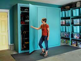 how to build inexpensive cabinets how to build oversized garage storage cabinets hgtv