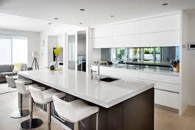 mirror backsplash kitchen home decoration ideas