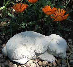 sleeping bunny rabbit outdoor garden statue c garden