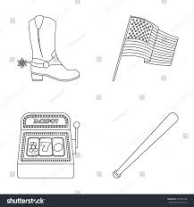 cowboy boots national flag slot machine stock vector 654706198