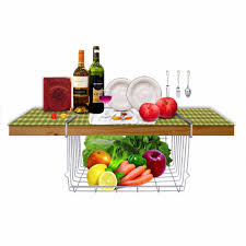 Kitchen Cabinet Organizer Racks Under Cabinet Basket Roll Out Double Shelf Pull Out Two Tier
