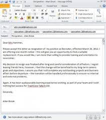 ideas of how to write resignation letter in mail on form huanyii com