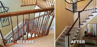Refinish Banister Railing Making Your Staircase Match Your Hardwood Floors Imhoff Fine