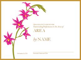 employee performance award certificate template
