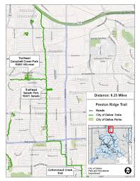 Map Of Dallas Area Major Linear Trails Dallas Parks Tx Official Website