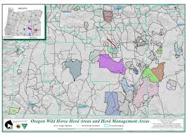 Oregon Map Us by Programs Wild Horse And Burro Herd Management Herd Management