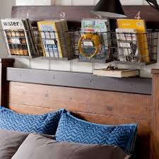 Bookcase With Baskets Wood And Wire Wall Multi Basket Pbteen