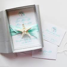 Boxed Wedding Invitations Shore Thing Starfish Boxed Invitation Suite Watercolor Wedding