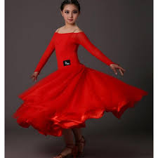 black red long sleeves round neck back girls kids children