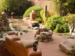 fire pit ideas for decks hgtv