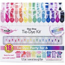 amazon com tulip one step 18 color tie dye kit arts crafts u0026 sewing