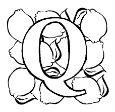 Letter Q Quince Coloring Page Coloring Pages Q