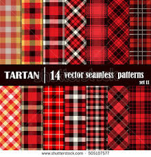 Scotch Plaid Vector Set Tartan Squared Seamless Abstract Stock Vector 271272326